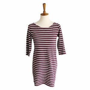 Ganni Cotton Striped Shift Dress Size Small